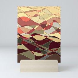 Gold Waves Mini Art Print