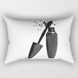 Black mascara fashion illustration Rectangular Pillow