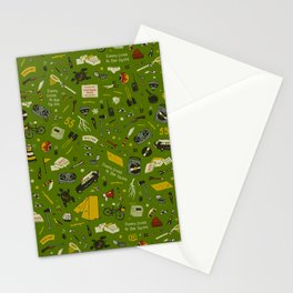 Moonrise Kingdom Plot Pattern Stationery Cards