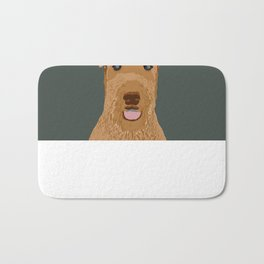 Airedale Terrier cute pet portrait dog art customizable dog breeds animal fur baby illustration dogs Bath Mat