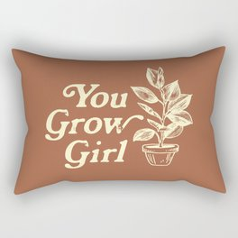 You Grow Girl Vintage Rectangular Pillow