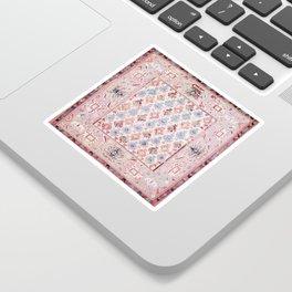 North Indian Dhurrie Kilim Print Sticker