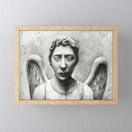 Weeping Angel Framed Mini Art Print