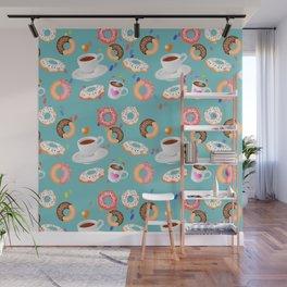 Coffee and Doughnuts Wall Mural