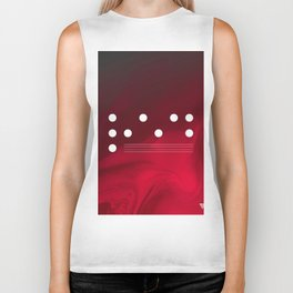 Red Abstract Passion Biker Tank