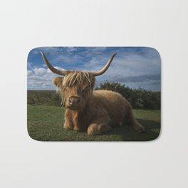 Rugged Highland Cow Bath Mat