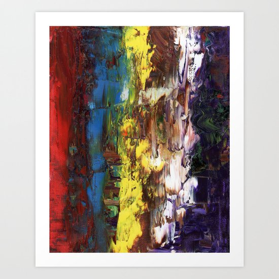 Abstract US Flag Art Print