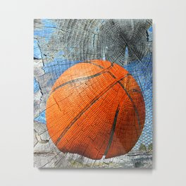Basketball- ball art vs 108 Metal Print
