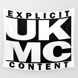 UK MC Explicit Content Wall Tapestry