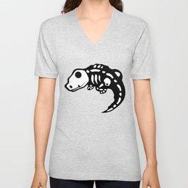 Lizard skeleton Unisex V-Neck
