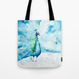 Peacocking Around Tote Bag