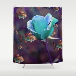 sea garden Shower Curtain