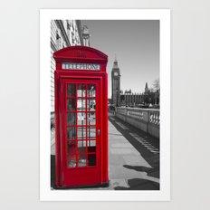 Big Ben and Red telephone box Art Print