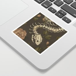 Snake Skeleton Sticker