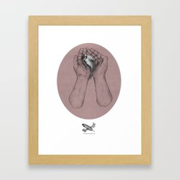 Hes got the whole bird in his hands Framed Art Print