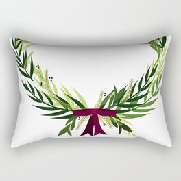 Holiday Wreath Rectangular Pillow