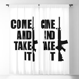 Come and Take it with AR-15 Blackout Curtain