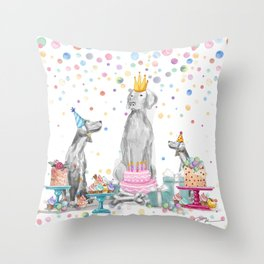 PARTY WEIMS Throw Pillow