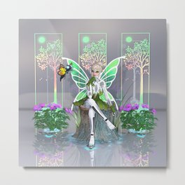 Tinkerbot and the Digital Forest Metal Print