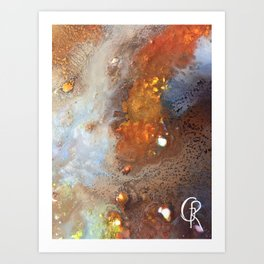 Crater Original Abstract Painting, Mixed Media On Canvas Art Print