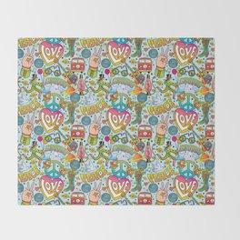 Peace&Love Throw Blanket