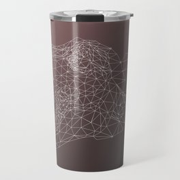 Realistic Low Poly Portrait Tyrannosaurus Trex Travel Mug