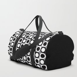 Geometric Pattern #193 (black gray circles) Duffle Bag