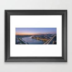 The view from Serra do Pilar - Porto and Gaia Framed Art Print