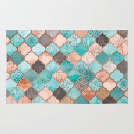 Moroccan pattern artwork print Rug