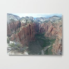 Angels Landing, Zion National Park Metal Print