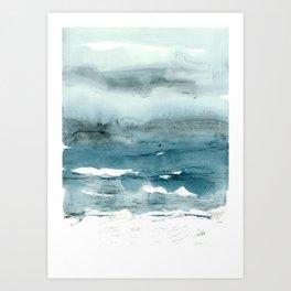 dissolving blues Art Print