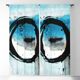 Enso Abstraction o. 113R by Kathy Morton Stanion Blackout Curtain