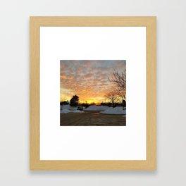 Winter Sunset, Chicago, 2018 Framed Art Print