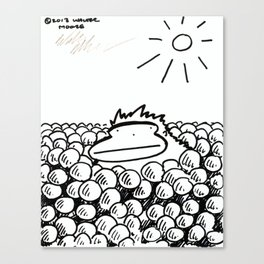 Ape in the Ball Pit Canvas Print