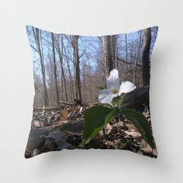 Trillium Fighting Spring Throw Pillow