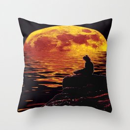 zenlightening moon Throw Pillow