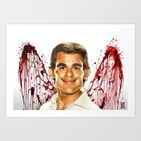 dexter Art Prints featuring Dexter by Giampaolo Casarini