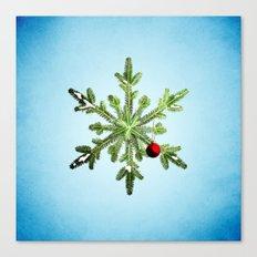 Winter Holidays Pine Snowflake Canvas Print