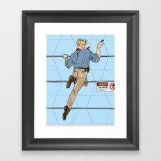 Jurassic Park Pin-Ups ~ Alan Grant Framed Art Print
