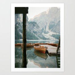 Lago di Braies | Fine art travel photography print Italy | Dolomites South Tirol Art Print