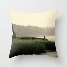 Rain on a summer day on Long Island Throw Pillow