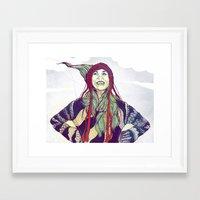 anna Framed Art Prints featuring AnnA by Andon Georgiev
