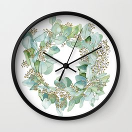 Eucalyptus 2 Wall Clock