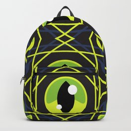Halloween Green Eyes Backpack