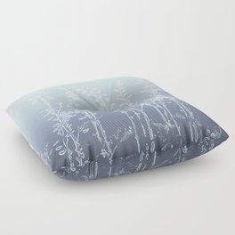 WILDFLOWERS BLUE AND PURPLE Floor Pillow