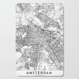 Amsterdam White Map Cutting Board