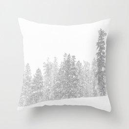 Snowy Slope // Mountain Ski Landscape Photography Black and White Snowboarding Winter Decor Throw Pillow