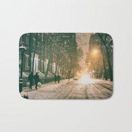 Winter - New York City - Snows Falls - Washington Square Bath Mat