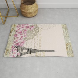 Ooh La La Parisian Eiffel Tower by Saletta Home Decor Rug