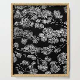 Japanese Inspired Trees in black Serving Tray